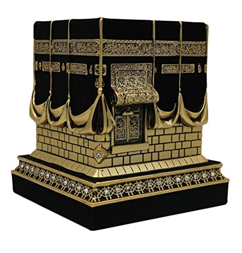 Islamische Tischdekoration, Nachbildung der Kaaba, Ausstellung, Gold / Schwarz - 1960er Jahre