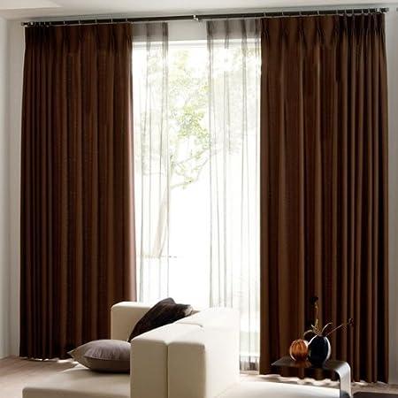 防音カーテン 2枚組 遮光1級 形態安定加工 幅100cm×丈200cm ブラウン