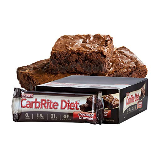 Universal Nutrition CarbRite Diet Bar, Chocolade Brownie, 12x56g