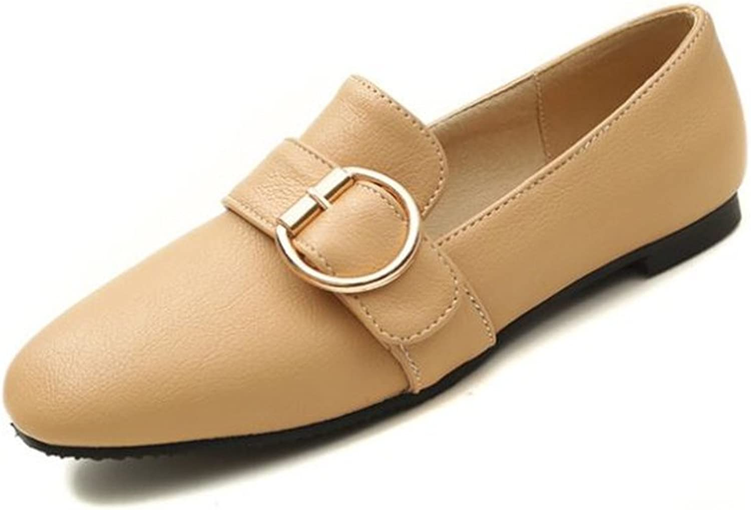 Eleganceoo Women's Fashion Pointy Toe Ballet Flat Suede Comfort Ballerina Slip On shoes