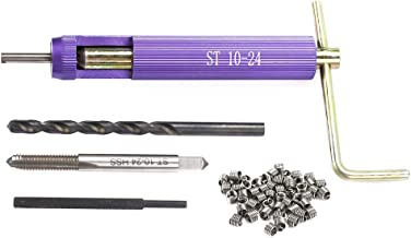 50Pcs Thread Repair Insert Kit, Helical Thread Kit Automotive Repairs M10-24 x 1.5D Thread Repair Wire Insert Set, Metric Thread Repair Set