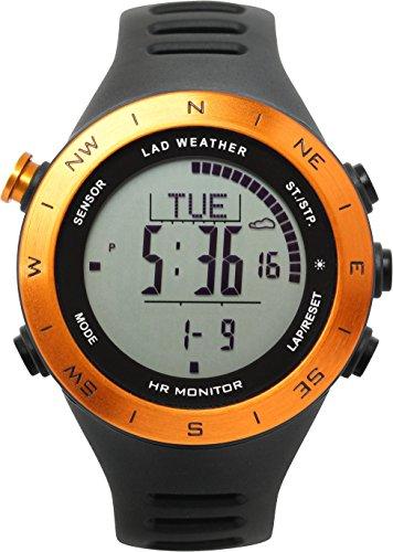 [Lad Weather] Reloj multifunción con Sensor alemán de frecuencia cardíaca, cronógrafo, Distancia/Velocidad/Pasos/calorías