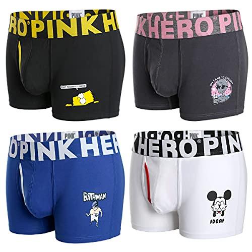 PINKHERO Men's Underwear Superman for Batman Marvel Boxer Briefs Underwears