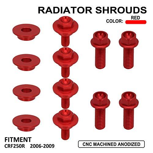 JFG RACING CNC Motorfiets Radiator Shroud Bouten/Schroeven Bevestigingsset Voor Honda CRF250R 06-09