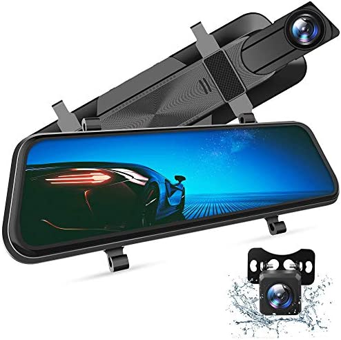 VanTop H610 10 2 5K Mirror Dash Cam for Cars with Full Touch Screen Waterproof Backup Camera product image