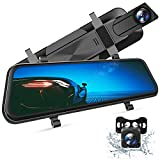 VanTop H610 10' 2.5K Mirror Dash Cam for Cars with Full Touch Screen, Waterproof Backup...
