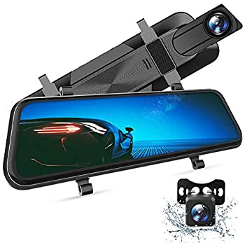 VanTop H610 10  2.5K Mirror Dash Cam for Cars with Full Touch Screen Waterproof Backup Camera Rear View Mirror Camera Enhanced Night Vision with Sony Starvis Sensor Parking Assistance