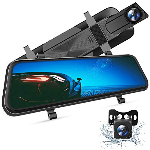 VanTop H610 10 2.5K best rear view mirror dash cam for Cars with Full Touch Screen & Waterproof