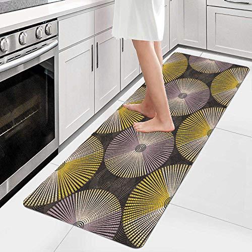 AIYOUVM Tappeto Cucina Lavabile Antiscivolo Tappeto di Design Superficie Morbida Lavabile, Tappeto Passatoia per Soggiorno, corridoio, Cucina 60x250cm