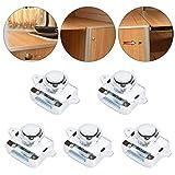 5 cierres de presión para puertas de armario, de aleación de cinc, sin necesidad de llave, uso universal en puertas de armario, armarios de pared, vehículos, armarios