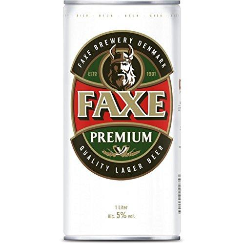 Faxe Danish Lager Beer 12 x 1,0l Dosen inkl. Pfand EINWEG