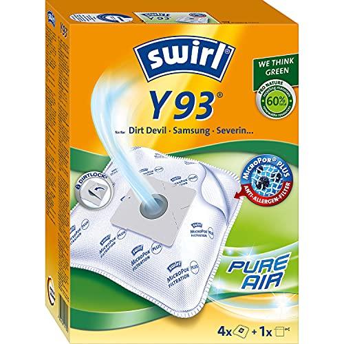 Swirl Y 93 MicroPor Plus Staubsaugerbeutel für Dirt Devil, Samsung, Severin Staubsauger, Anti-Allergen-Filter, 4 Stück inkl. Filter