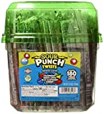 Sour Punch Twists, 6' Individually Wrapped Soft & Chewy Candy Tub, 4 Fruit Flavors, 62.4 Oz