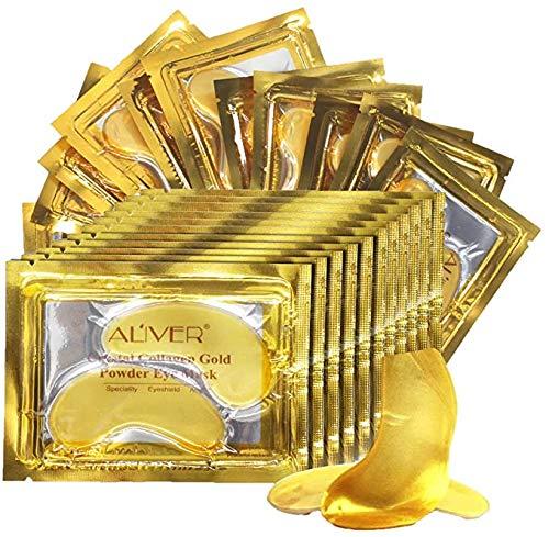 Crystal 24K Gold Collagen Eye Mask (25 pares), Gel antienvejecimiento premium, antiarrugas, quitar bolsas para los ojos, debajo de los ojos, ojeras, crema hidratante, ojos hinchados