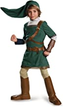 Link Prestige Legend of Zelda Nintendo Costume, Small/4-6