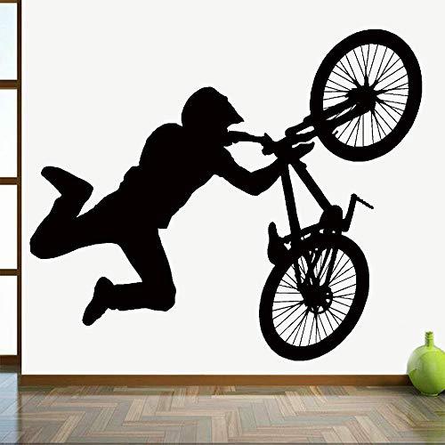 KDSMFA - Adhesivo decorativo para pared de bicicleta BMX Stunt Bike de 67 x 57 cm