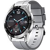Reloj Inteligente Hombres Smartwatch con 24 Modos Deportivos Pulsómetro Calorías Monitor de Sueño Actividad Podómetro IP67 Impermeable Reloj Compatible con Android iOS (Plata)