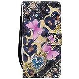 Sunrive Hülle Für Lenovo Moto G4 Play, Magnetisch Schaltfläche Ledertasche Schutzhülle Etui Leder Hülle Cover Handyhülle Tasche Schalen Lederhülle MEHRWEG(W16 Schmetterling 2)