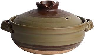 TY&WJ Resistente Prueba De Calor Cerámica Olla,Barro Clay Pot,Premium Stone Bowl con Lid para Bibimbap,Japonés Cerámica Hot Pot Cacerola B 1.6l