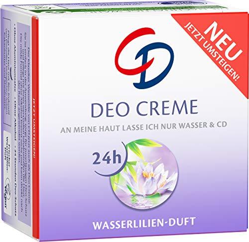 CD Deo Creme mit Wasserlilie, ohne Aluminium und ohne Alkohol für 24 Stunden Schutz, vegan 2er Pack(2 x 50ml)