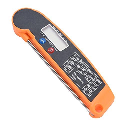 Thermomètre numérique pour barbecue, pliable avec écran LCD, thermomètre de cuisson numérique pour cuisine, vin, lait