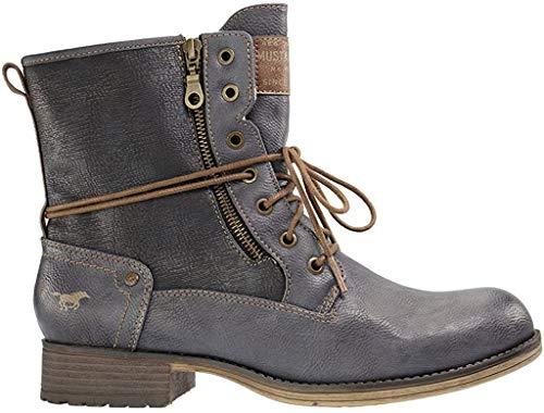 MUSTANG Shoes Boots in Übergrößen Blau 1139-629-800 große Damenschuhe, Größe:45