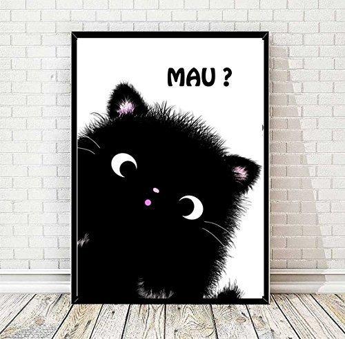 TinyTami★ Witziger Kunstdruck★ Kater MOO Katzenposter ★