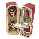 The Greenfield Collection WP003H Luxus Weinkühler für Zwei Personen in Mullberry Red