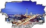 DesFoli Berlin Stadt Deutschland 3D Look Wandtattoo 70 x 115 cm Wanddurchbruch Wandbild Sticker Aufkleber C041