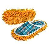Pantofole da Donna 2 Paia Pantofole da Pantofole Pantofole di Pulizia Pantofole Antiscivolo Scarpe da poltroncina per polverizzatore Pulizia di Pulizia (Color : Blue, Size : Medium)
