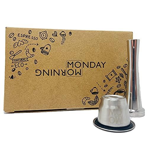 Monday Morning Capsule Réutilisable, Rechargeable en Inox...