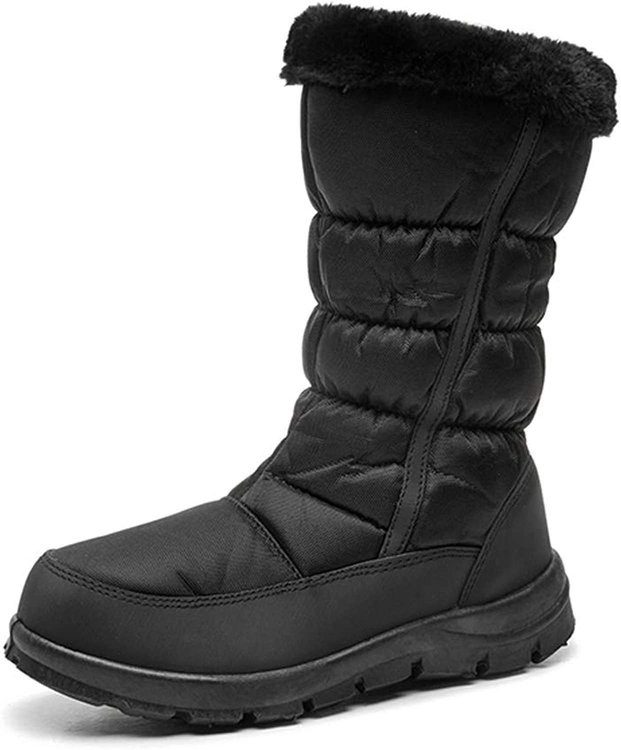 KINDOYO Womans Outdoor Snow Boots - Bootie Warm Lined Sneakers Slip On shoes