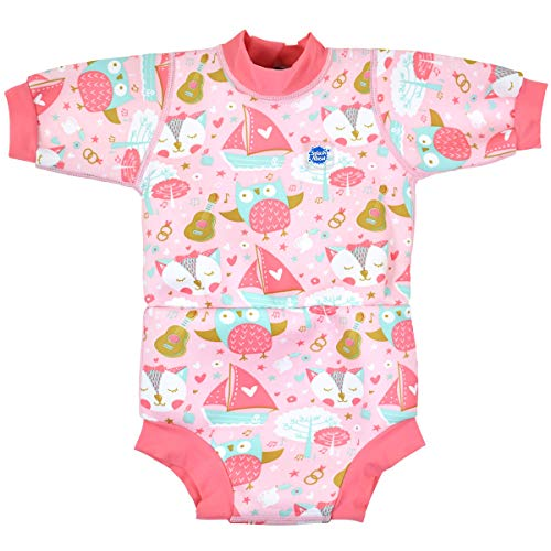 Splash About Baby Unisex Happy Nappy Neoprenanzug, Owl & The Pussycat, 6-14 Monate