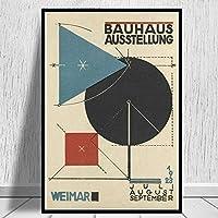アートキャンバスプリントポスター、バウハウスオステルンモダンファミリーベッドルームインテリアポスター、キャンバスアートポスター、リビングルームの壁アート写真フレームなし-A_50X70Cm