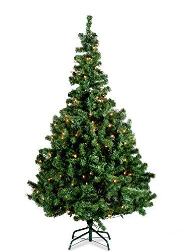 150cm Weihnachtsbaum beleuchtet 100 Birnen inkl. Ständer Tannenbaum Baum Christbaum 10814 A.I&E