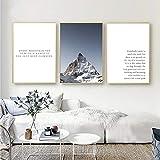 FA LEMON Schweiz Berglandschaft Leinwand Inspirierend Zitat