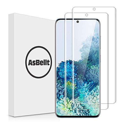 AsBellt [2 Pack] Screen Protector for Galaxy S20 Plus and S20 Plus 5G 6.7'' Tempered Glass [Fingerprint Sensor Compatible][Full Adhesive][3D Glass][Case Friendly] for Samsung Galaxy S20 Plus +