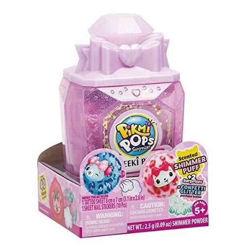 PIKMI POP *NIEUWE CHEEKI PUFFS - Super Sweet Scented Shimmer Pluche Inside Collectors Parfum Case! ca. 15 x 9 cm.