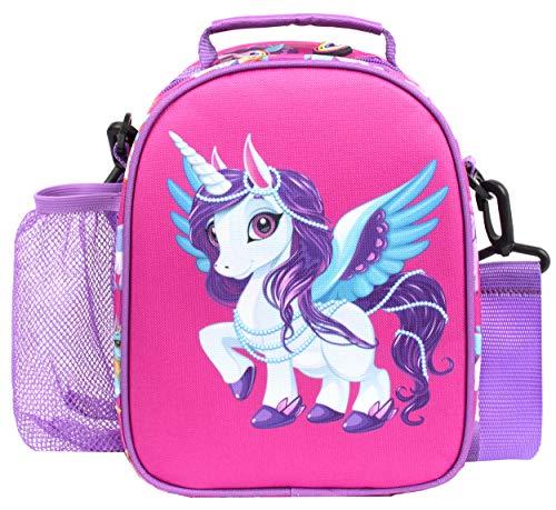 Fringoo - Fiambrera mágica con diseño de unicornio - Bolsa de almuerzo para niños - Bolsa de almuerzo con aislamiento térmico - Fiambreras de unicornio - Botella a juego disponible
