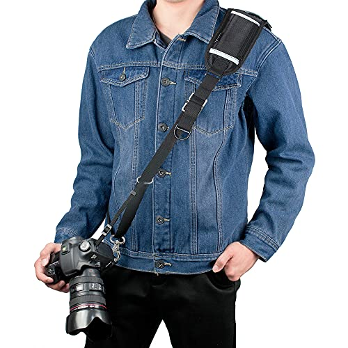 Kamera Gurt, Sugelary Schnellverschluss Schwarz Kamera Tragegurt Schultergurt Kameragurt für Canon Nikon Sony Fujifilm Olympus DSLR SLR (F-3)