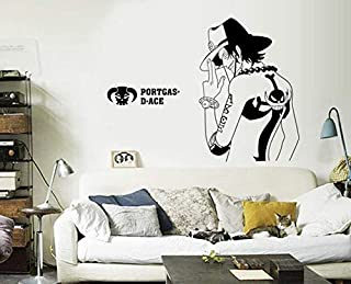 Anime ONE PIECE Flame Man Portgus D Ace Wall Sticker Monkey D Luffy Brother Ace Wallpaper Bedroom Living Room Wallpaper Bo...