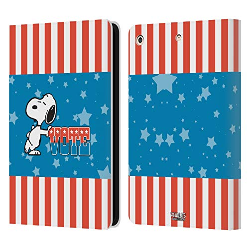 Official Peanuts Snoopy Flag Colour Your Vote Is Your Voice Leather Book Wallet Case Cover Compatible For Apple iPad Air (2013)