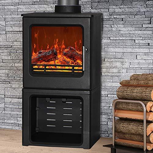 NRG Defra 4.3KW Cast Iron Woodburning Stove Eco Design WoodBurner Fireplace