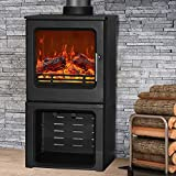 NRG Defra 4.3KW Cast Iron Woodburning Stove Eco Design WoodBurner Fireplace