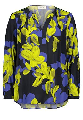 Cartoon Damen 8914/7175 Bluse, Dark Blue/Yellow, 40