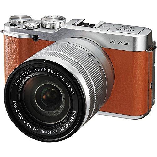 Fujifilm X-A2 Mirrorless Digital Camera with 16-50mm Lens (Brown) - International Version (No Warranty)