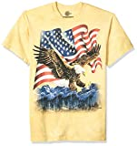 The Mountain Eagle Talon Flag Adult T-Shirt, Yellow, XL
