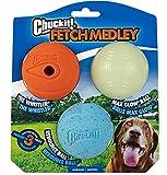 Chuckit! Juguete para Perro Juego de Lanzamiento de Pelotas para Perros, Pack de 3 Unidades