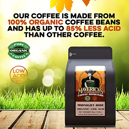 Dark French Low Acid Organic Coffee - Ground 1lb