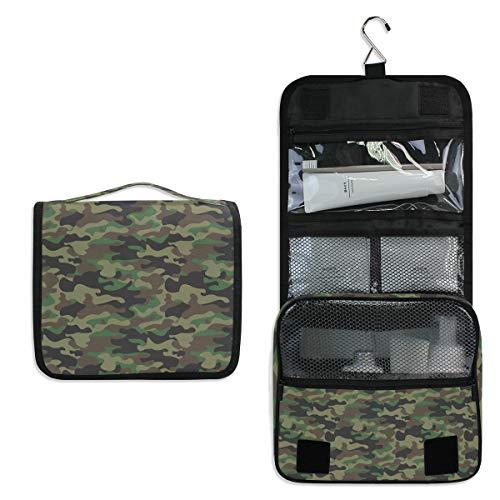 CPYang Neceser para colgar con diseño de camuflaje militar, bolsa de cosméticos...